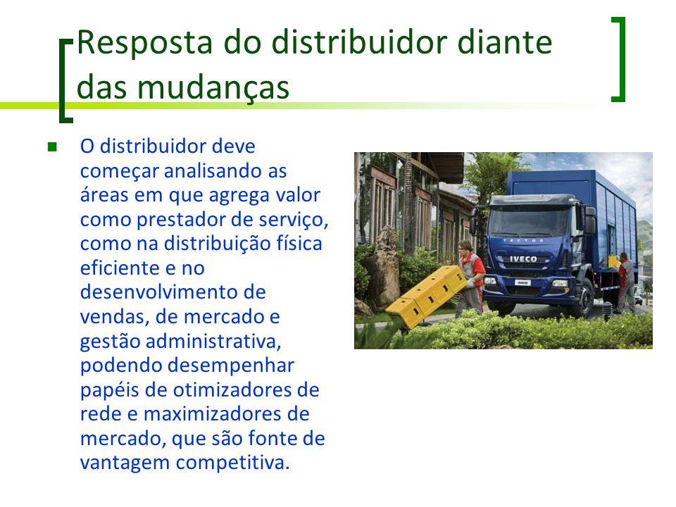 Resposta do distribuidor diante das mudanças O distribuidor deve começar analisando as áreas em que agrega valor como prestador de serviço, como na di
