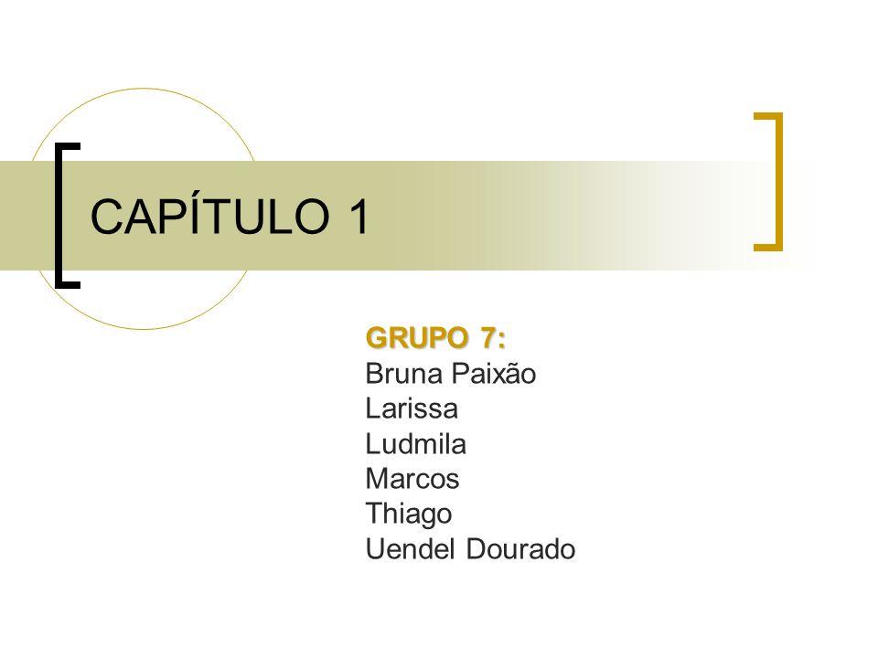 CAPÍTULO 1 GRUPO 7: Bruna Paixão Larissa Ludmila Marcos Thiago Uendel Dourado