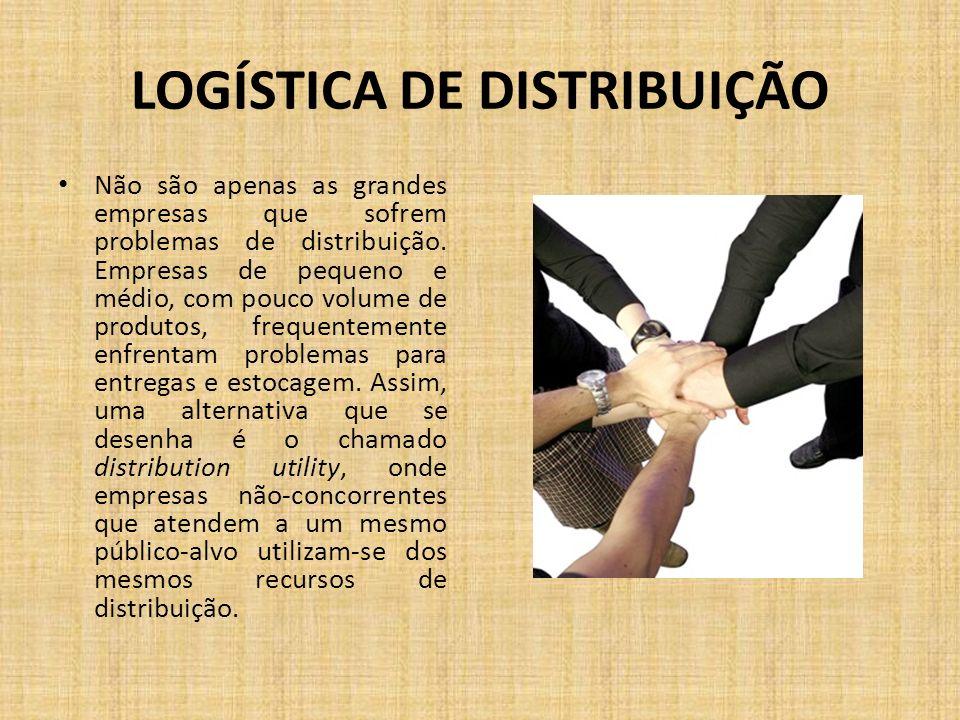 LOGÍSTICA DE DISTRIBUIÇÃO Não são apenas as grandes empresas que sofrem problemas de distribuição. Empresas de pequeno e médio, com pouco volume de pr