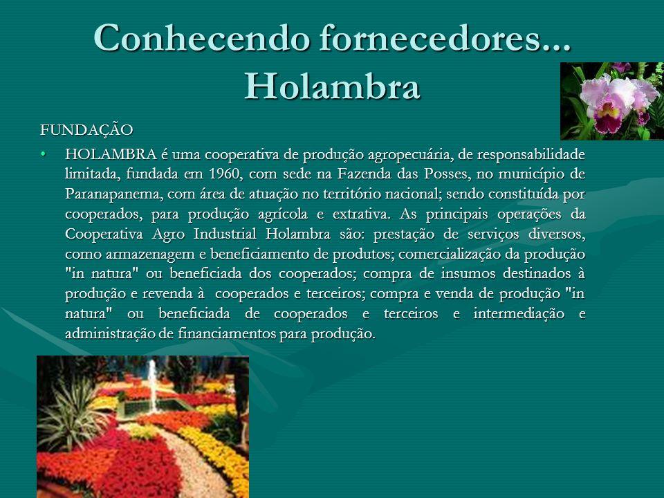 Conhecendo fornecedores... Holambra FundaçãoFundação HistóricoHistórico Leilão de floresLeilão de flores