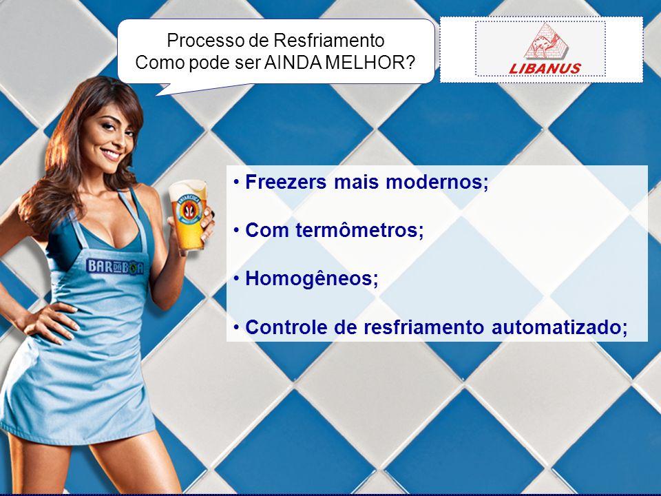 Freezers mais modernos; Com termômetros; Homogêneos; Controle de resfriamento automatizado; Processo de Resfriamento Como pode ser AINDA MELHOR?