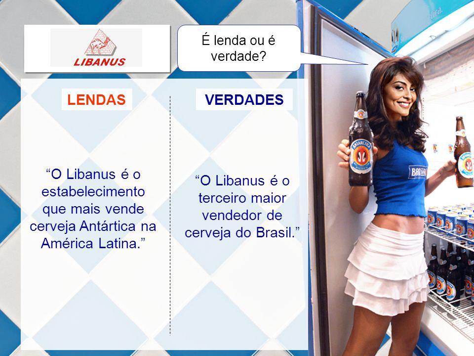 LENDASVERDADES O Libanus é o estabelecimento que mais vende cerveja Antártica na América Latina. O Libanus é o terceiro maior vendedor de cerveja do B
