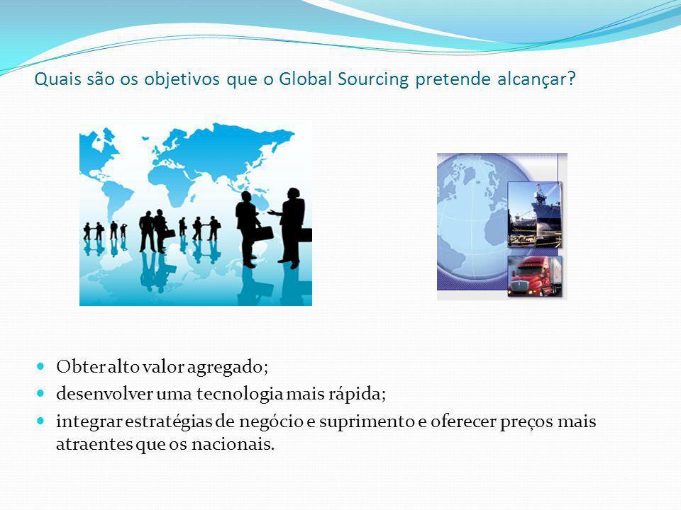 Quais são os objetivos que o Global Sourcing pretende alcançar.