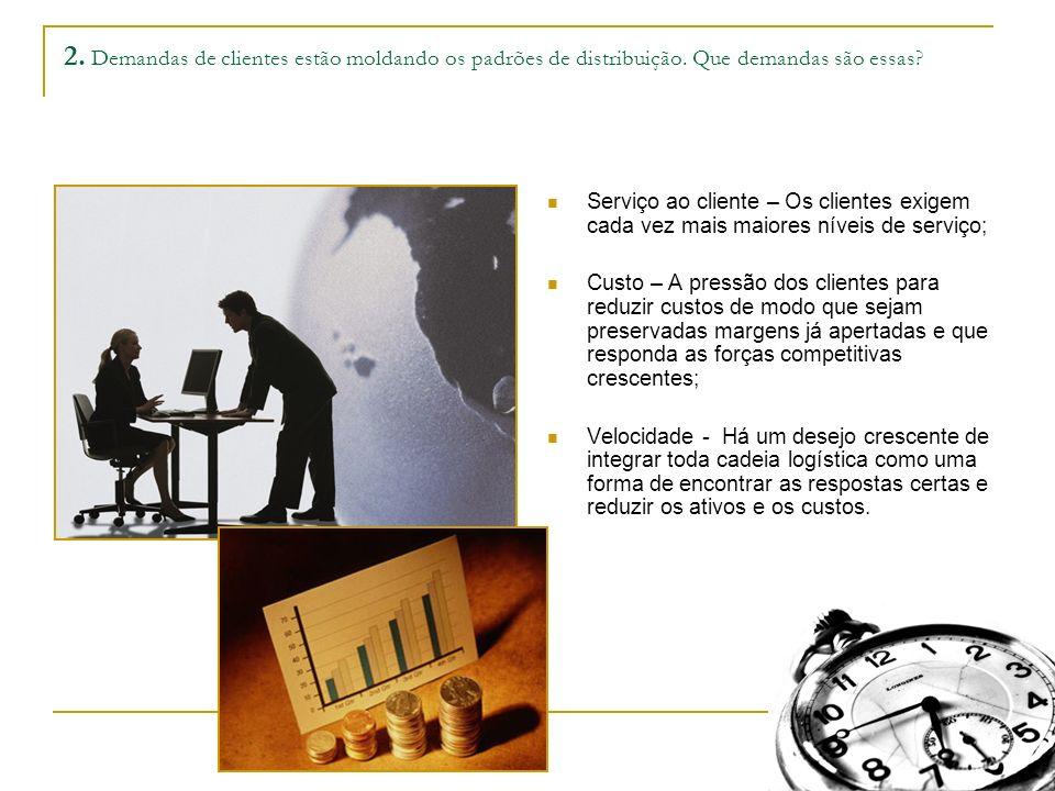 2. Demandas de clientes estão moldando os padrões de distribuição.