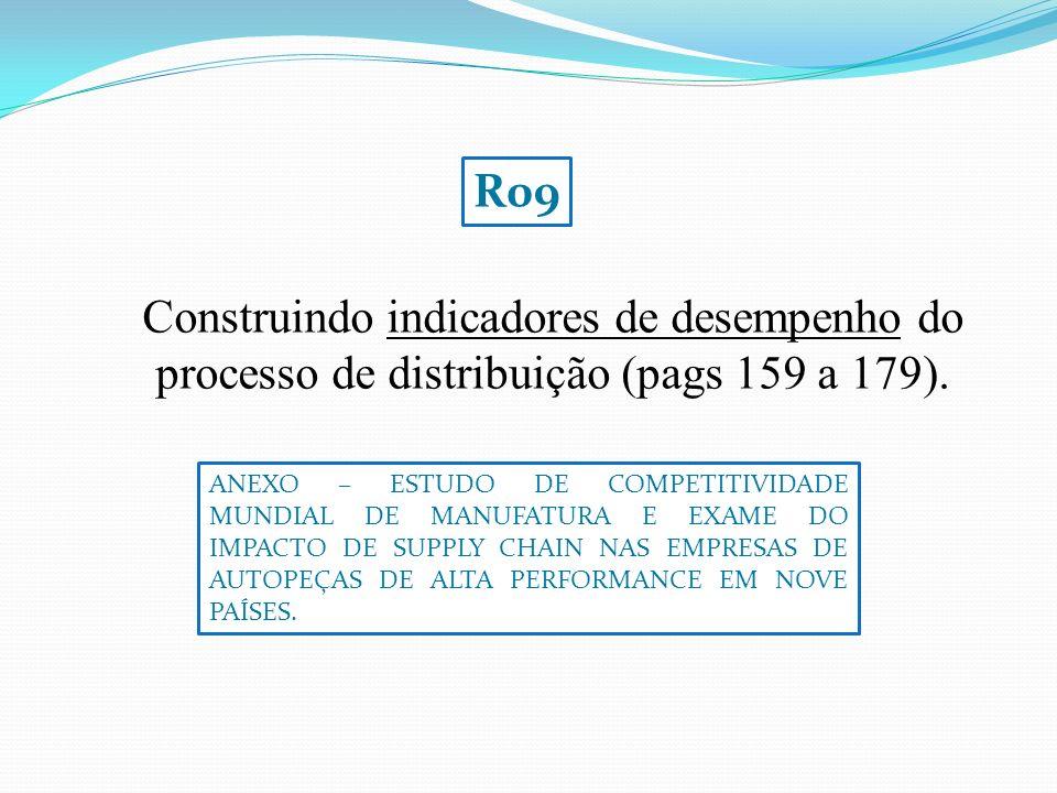 Construindo indicadores de desempenho do processo de distribuição (pags 159 a 179).