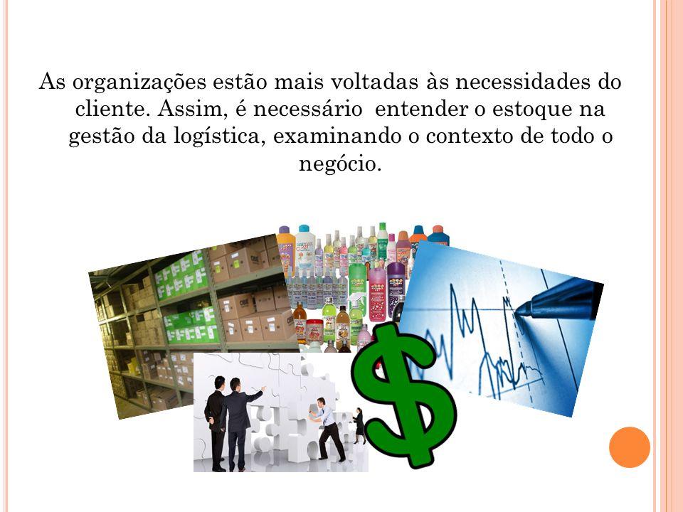 As organizações estão mais voltadas às necessidades do cliente. Assim, é necessário entender o estoque na gestão da logística, examinando o contexto d