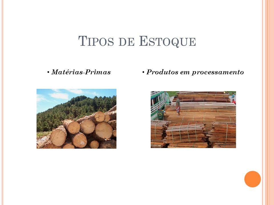 T IPOS DE E STOQUE Matérias-Primas Produtos em processamento