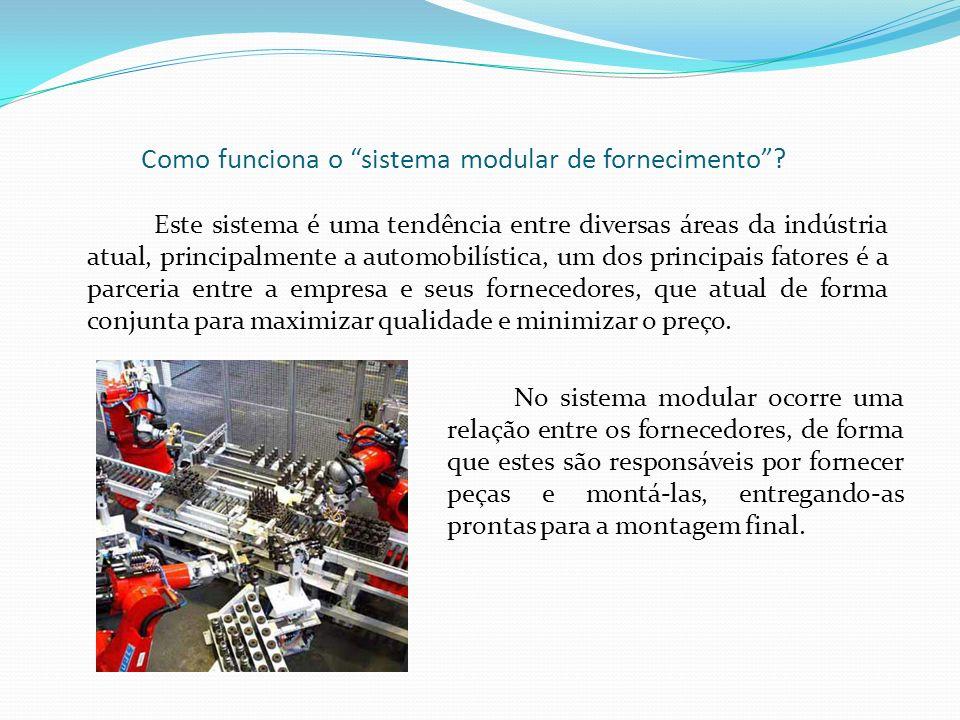 Como funciona o sistema modular de fornecimento? Este sistema é uma tendência entre diversas áreas da indústria atual, principalmente a automobilístic