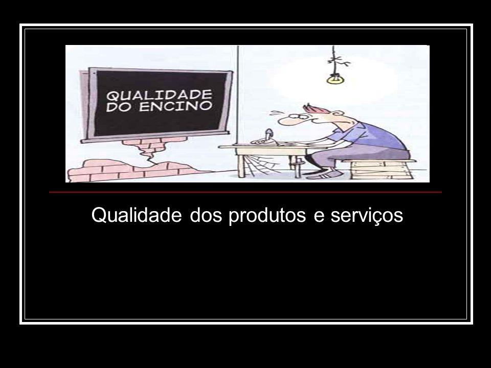 Qualidade dos produtos e serviços