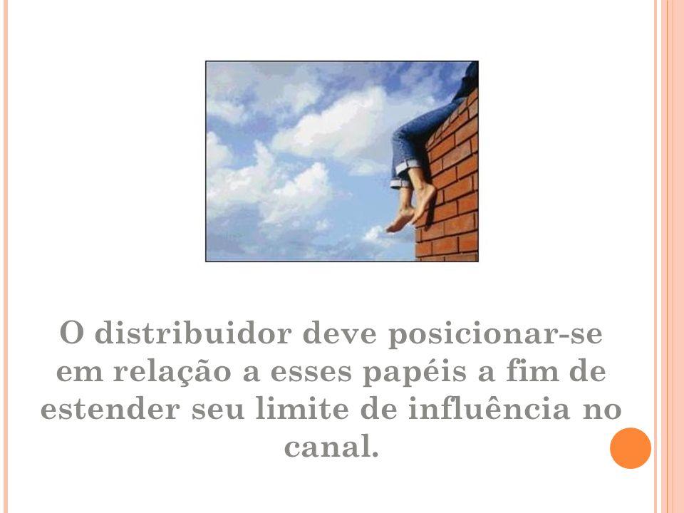 O distribuidor deve posicionar-se em relação a esses papéis a fim de estender seu limite de influência no canal.