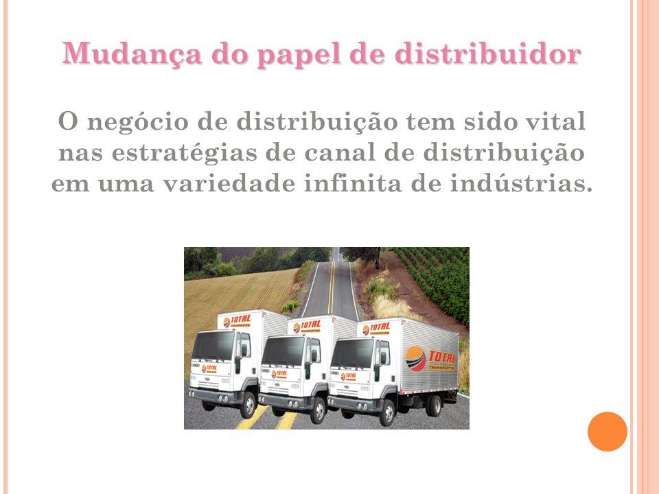 Mudança do papel de distribuidor Mudança do papel de distribuidor O negócio de distribuição tem sido vital nas estratégias de canal de distribuição em