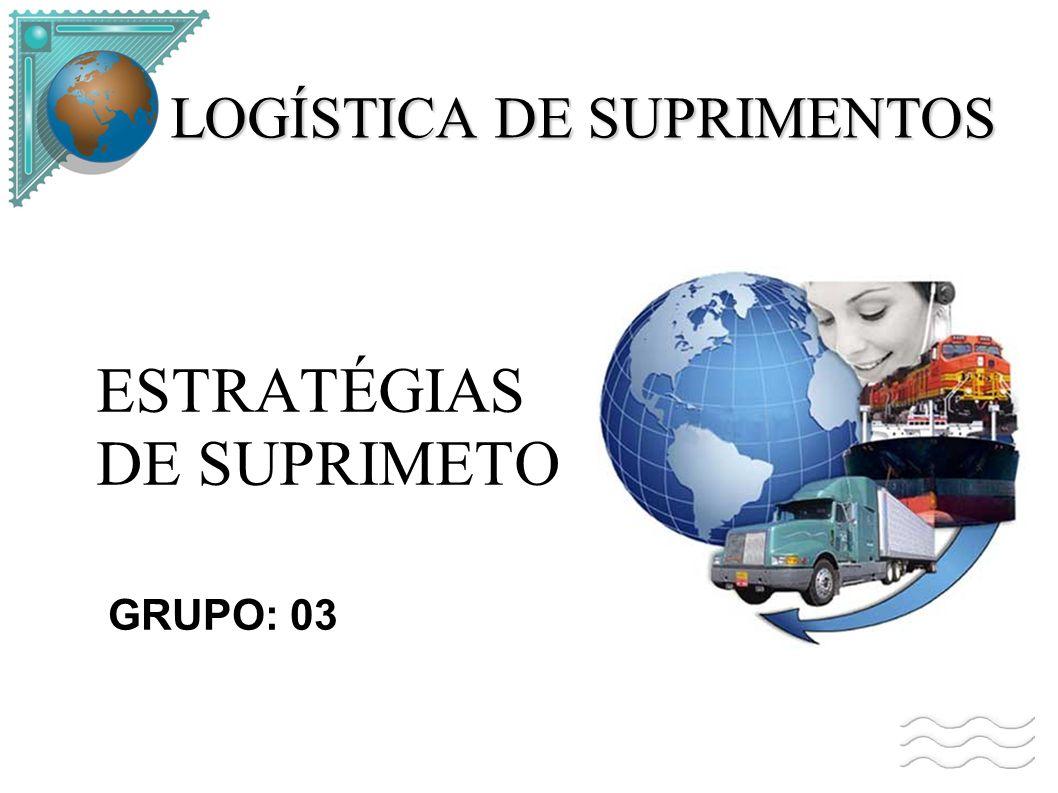 LOGÍSTICA DE SUPRIMENTOS ESTRATÉGIAS DE SUPRIMETO GRUPO: 03