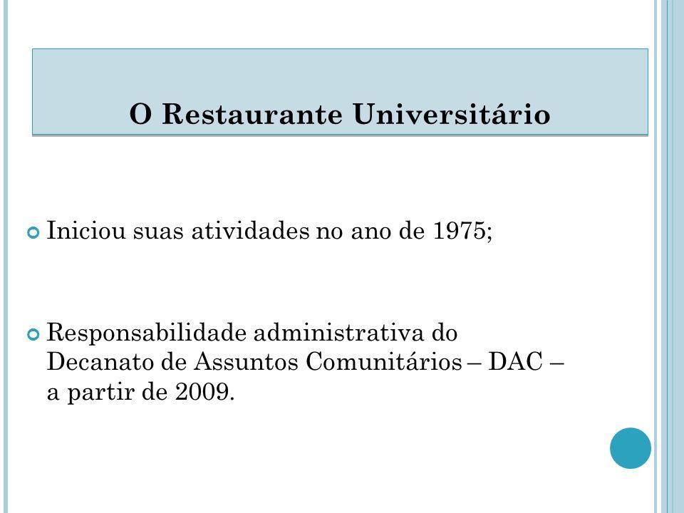 Iniciou suas atividades no ano de 1975; Responsabilidade administrativa do Decanato de Assuntos Comunitários – DAC – a partir de 2009.