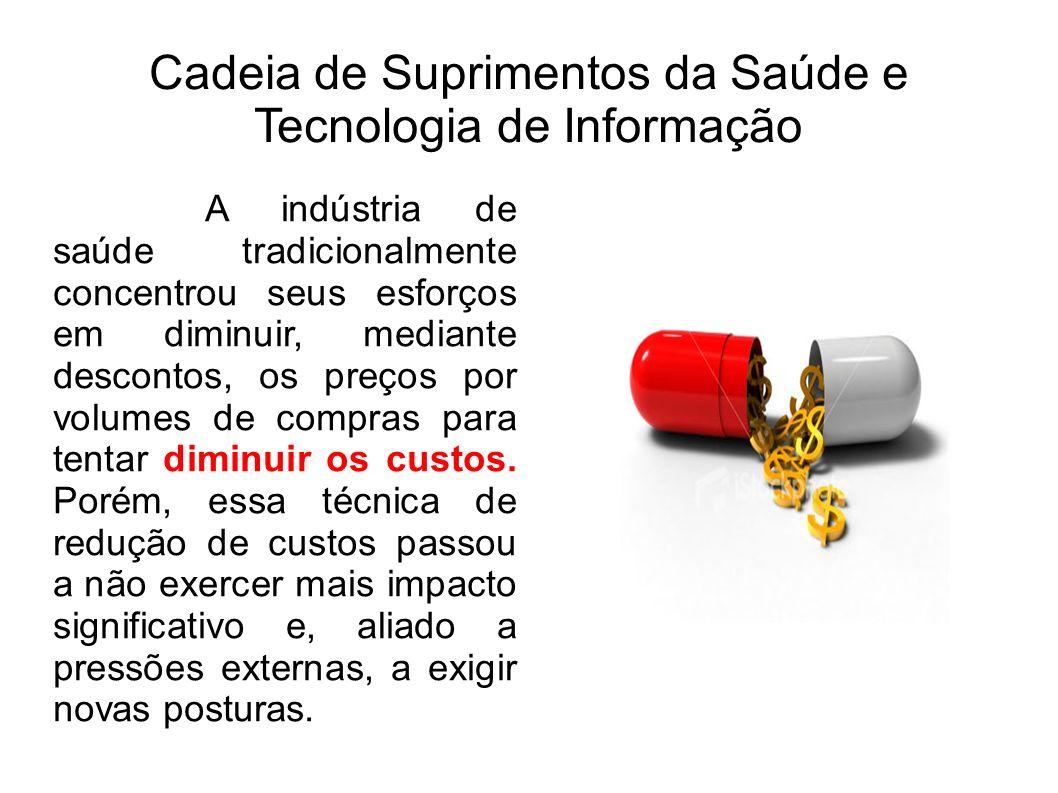 Cadeia de Suprimentos da Saúde e Tecnologia de Informação A indústria de saúde tradicionalmente concentrou seus esforços em diminuir, mediante descont