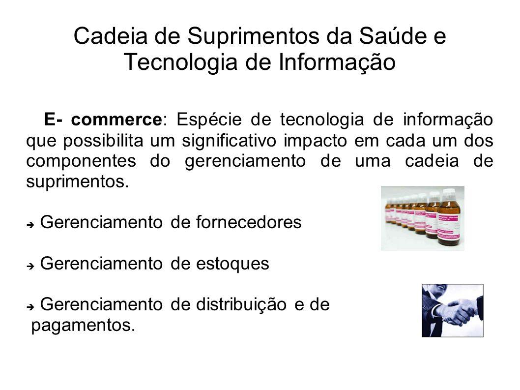 E- commerce: Espécie de tecnologia de informação que possibilita um significativo impacto em cada um dos componentes do gerenciamento de uma cadeia de