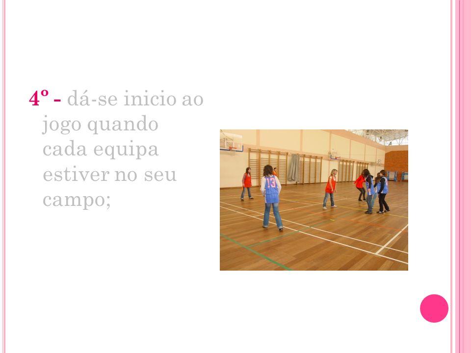 5º- sempre que um jogador de uma das equipas toca no jogador de outra equipa este tem de ficar quieto;