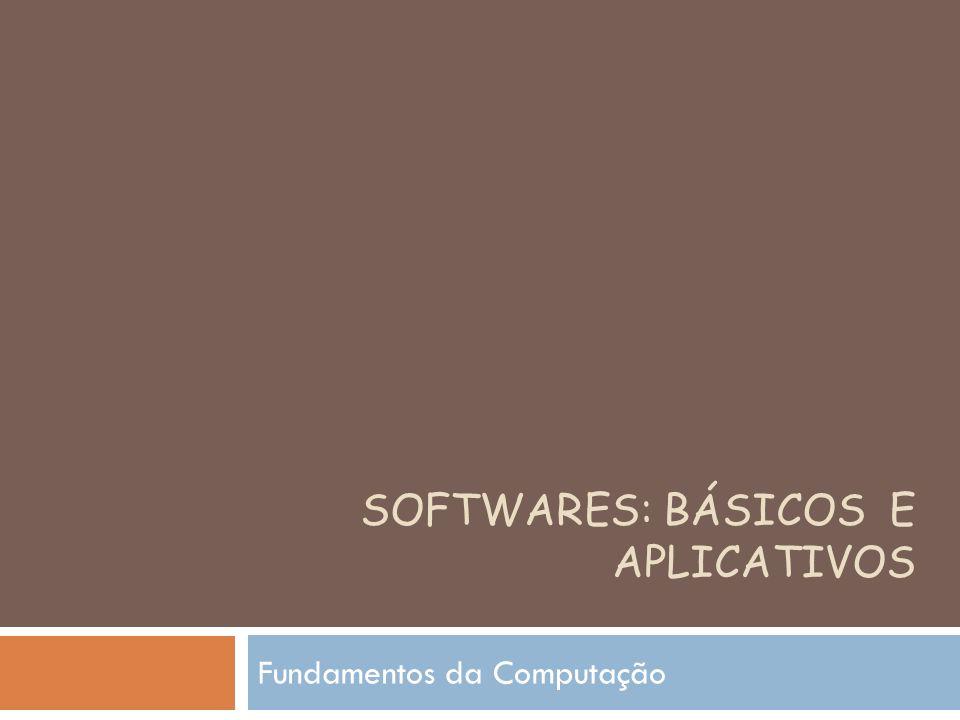 SOFTWARES: BÁSICOS E APLICATIVOS Fundamentos da Computação