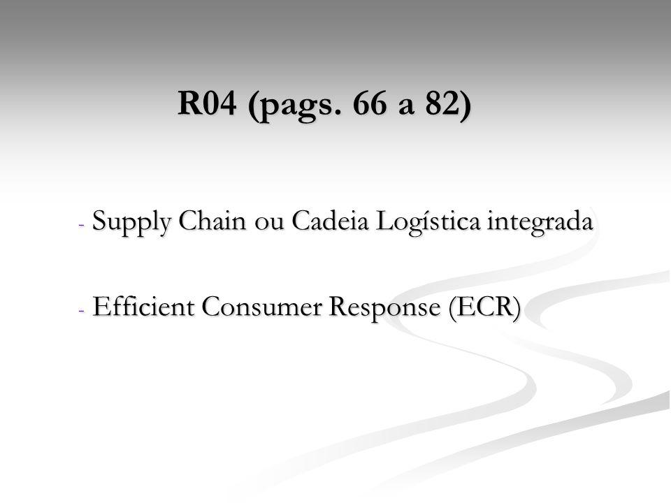 1) Quais os fatores para o bom desempenho do supply chain.