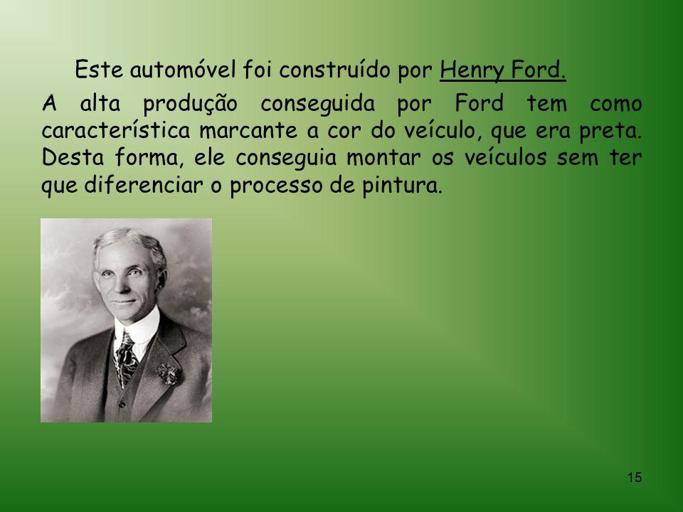 14 Henry Ford era filho de emigrantes escoceses. Frequentou escolas rurais até seus quinze anos, trabalhando na fazenda do seu pai, tendo sempre demon