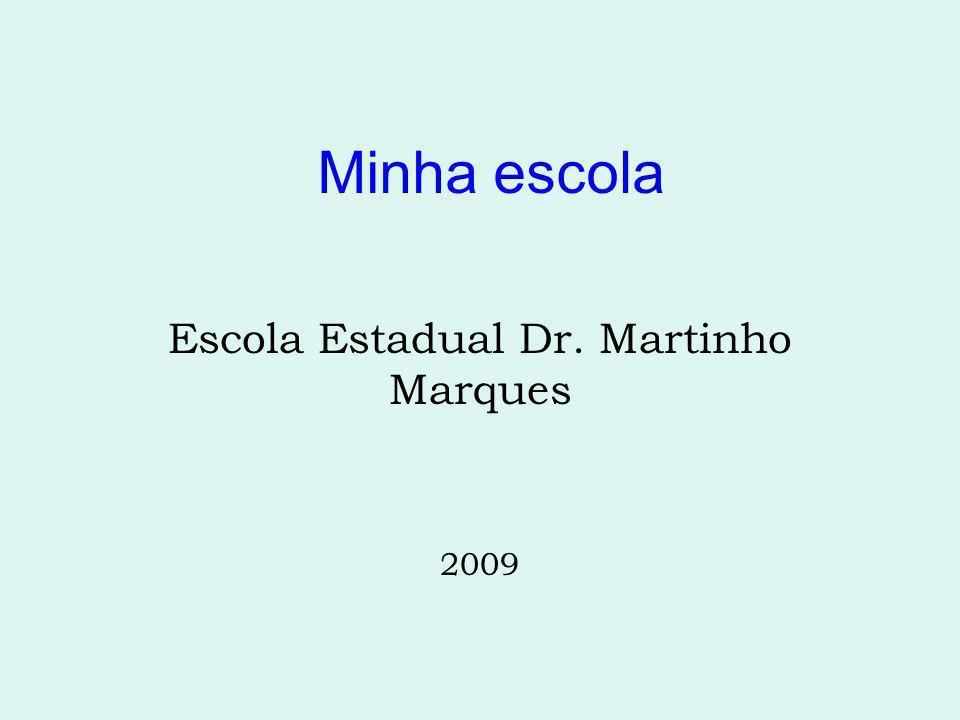 Minha escola Escola Estadual Dr. Martinho Marques 2009