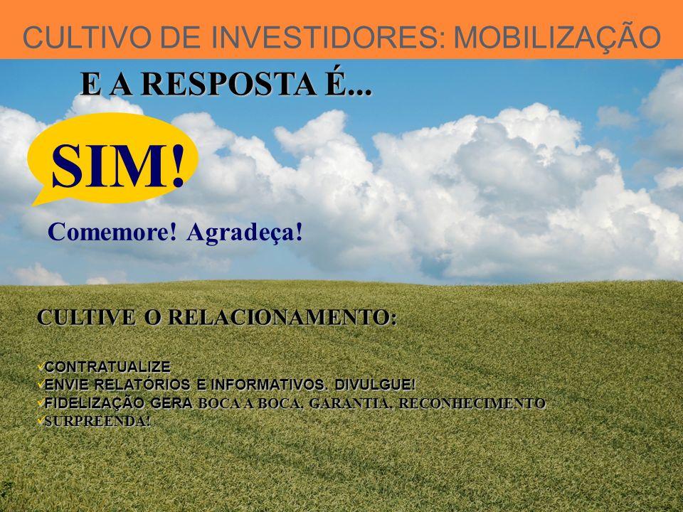 CULTIVO DE INVESTIDORES: MOBILIZAÇÃO E A RESPOSTA É...