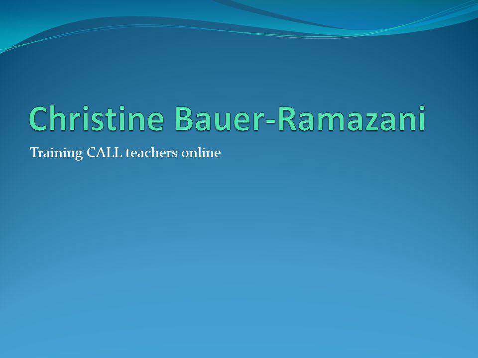 Training CALL teachers online