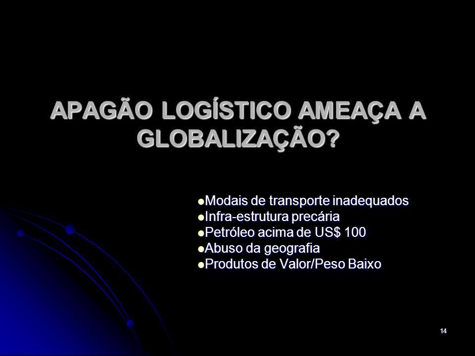 14 APAGÃO LOGÍSTICO AMEAÇA A GLOBALIZAÇÃO.