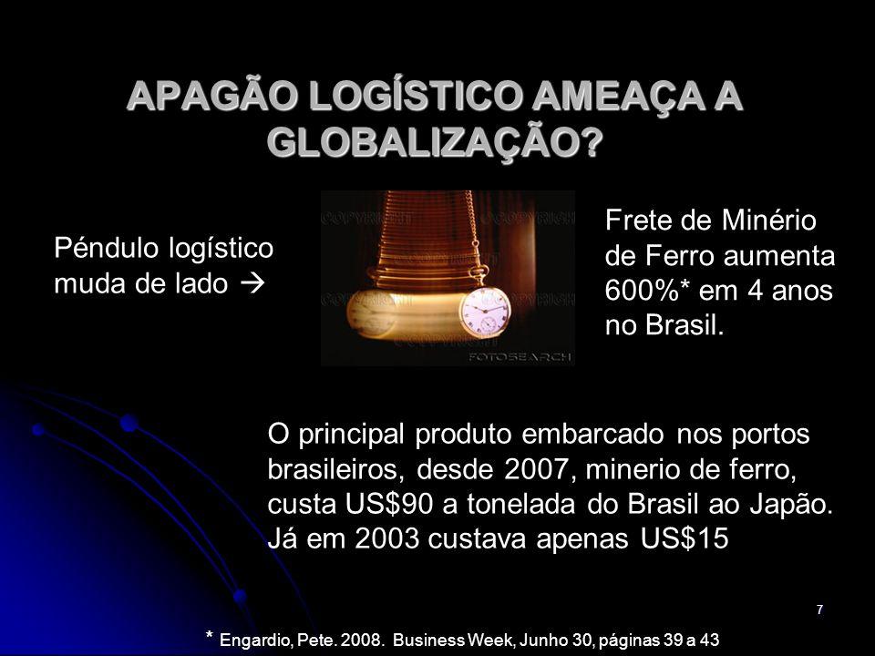 7 APAGÃO LOGÍSTICO AMEAÇA A GLOBALIZAÇÃO.