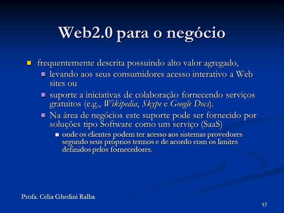 16 Web2.0 para os negócios