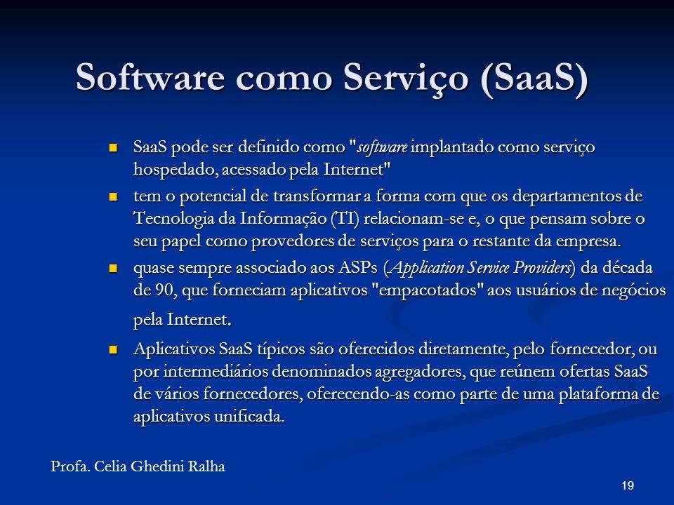 18 Software como Serviço (SaaS)