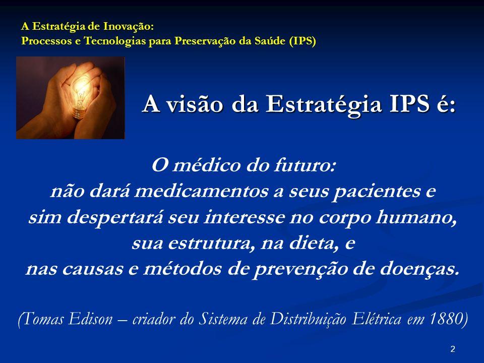 1 IIIa Jornada Científica do Hospital de Doenças Tropicais (HDT) Io Congresso da Sociedade Goiana de Infectologia Sábado, 11 de Outubro, 2008 Sustentando a Área Técnica das 9 às 10 horas Estratégia de Inovação: Processos e Tecnologias para Preservação da Saúde (IPS) Guillermo Asper, Ph.D.