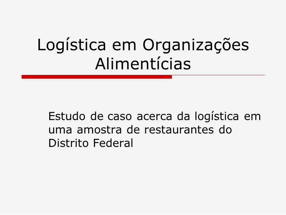 Logística em Organizações Alimentícias Estudo de caso acerca da logística em uma amostra de restaurantes do Distrito Federal