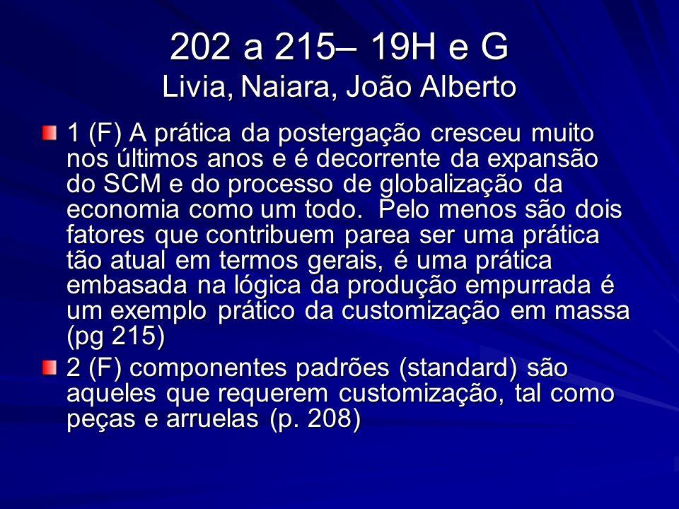 202 a 215– 19H e G Livia, Naiara, João Alberto 1 (F) A prática da postergação cresceu muito nos últimos anos e é decorrente da expansão do SCM e do pr