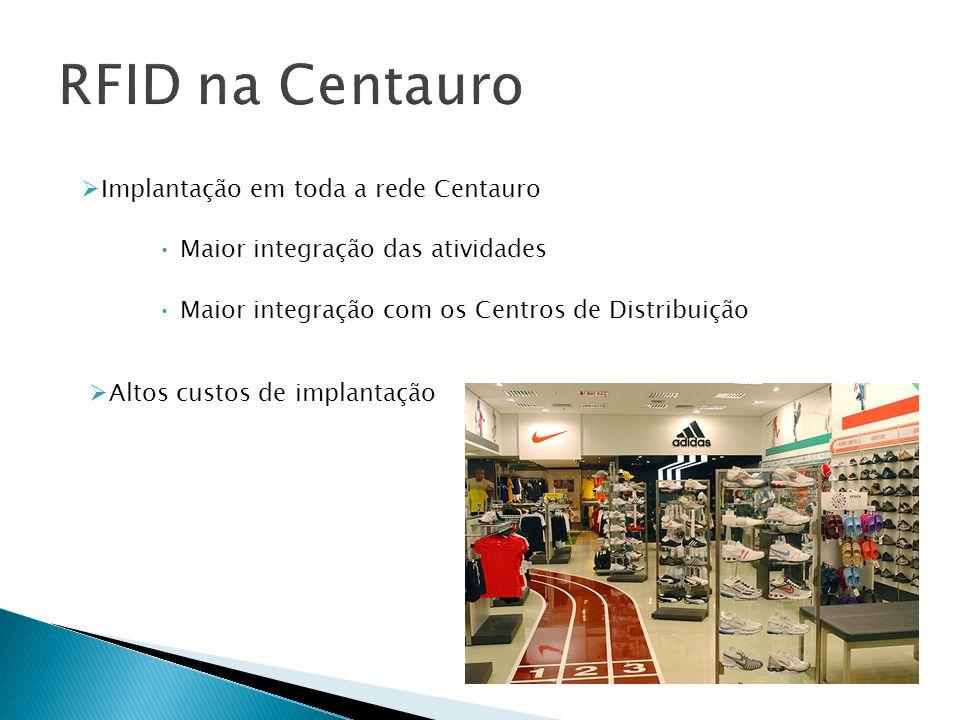Implantação em toda a rede Centauro Maior integração das atividades Maior integração com os Centros de Distribuição Altos custos de implantação