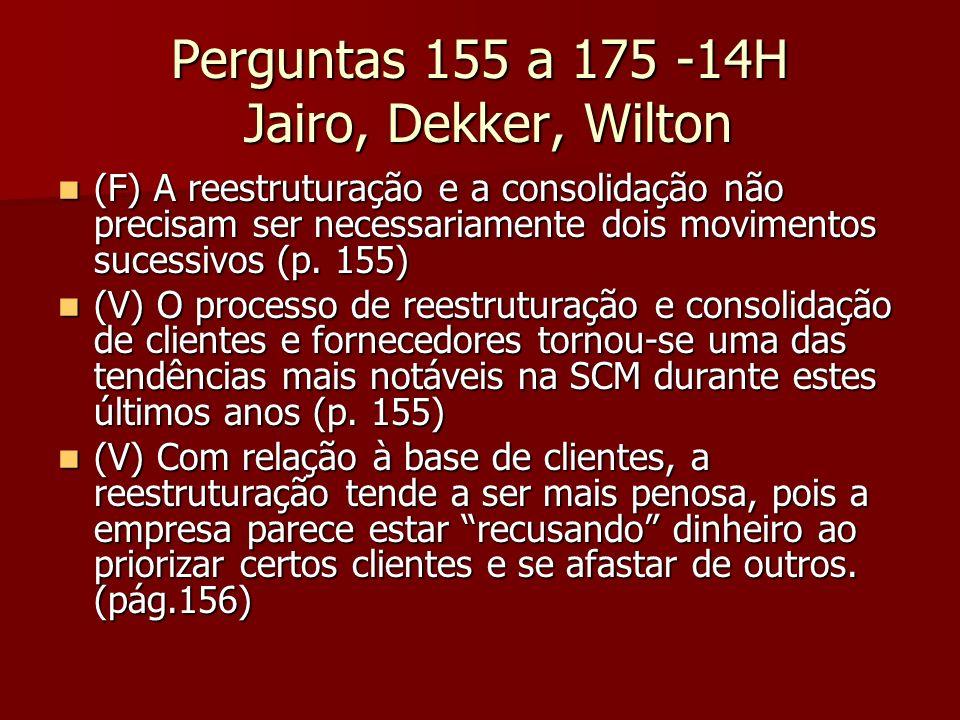 Perguntas 155 a 175 -14H Jairo, Dekker, Wilton (F) A reestruturação e a consolidação não precisam ser necessariamente dois movimentos sucessivos (p. 1