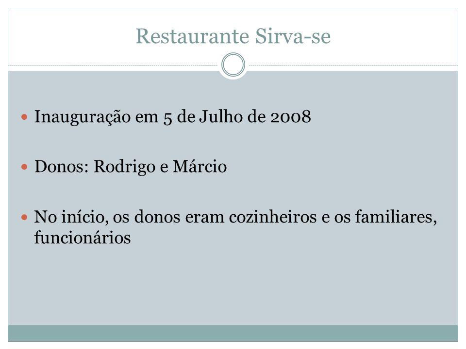Inauguração em 5 de Julho de 2008 Donos: Rodrigo e Márcio No início, os donos eram cozinheiros e os familiares, funcionários