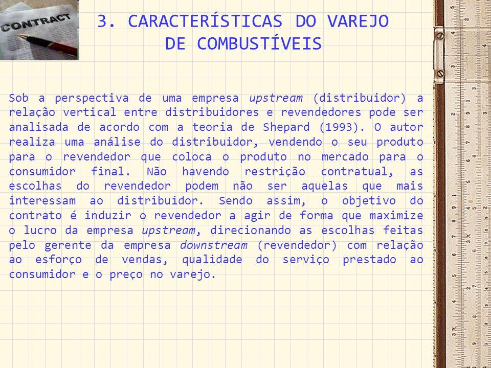 Pinto & Silva (2004) estudaram o surgimento das revendedoras de combustível sem vínculo de exclusividade com nenhuma distribuidora, os chamados postos de bandeira branca.