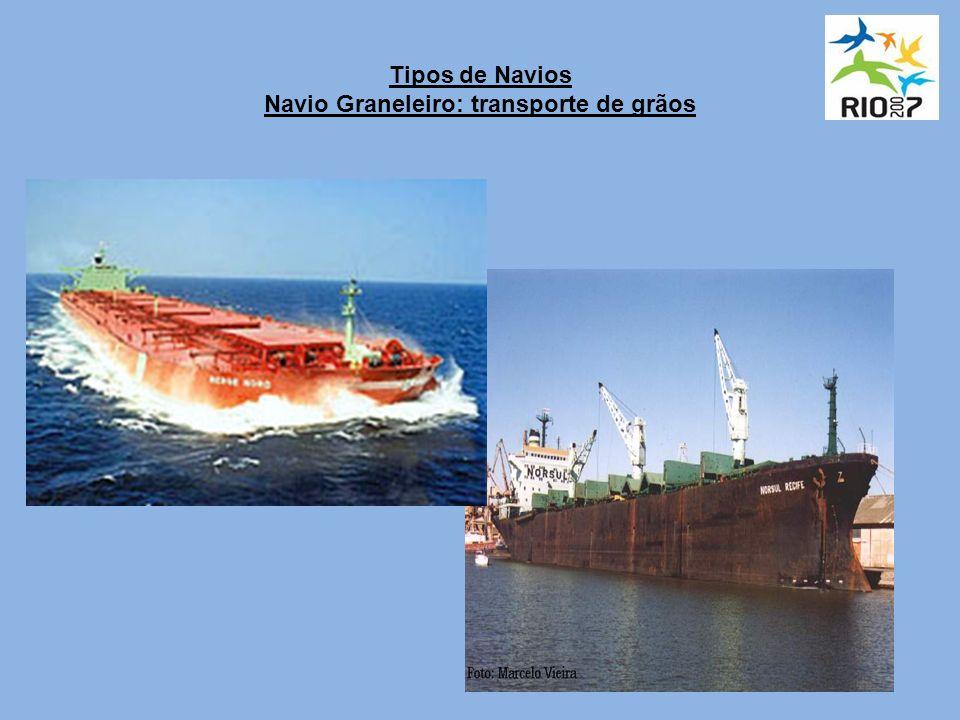 Tipos de Navios Navio Graneleiro: transporte de grãos