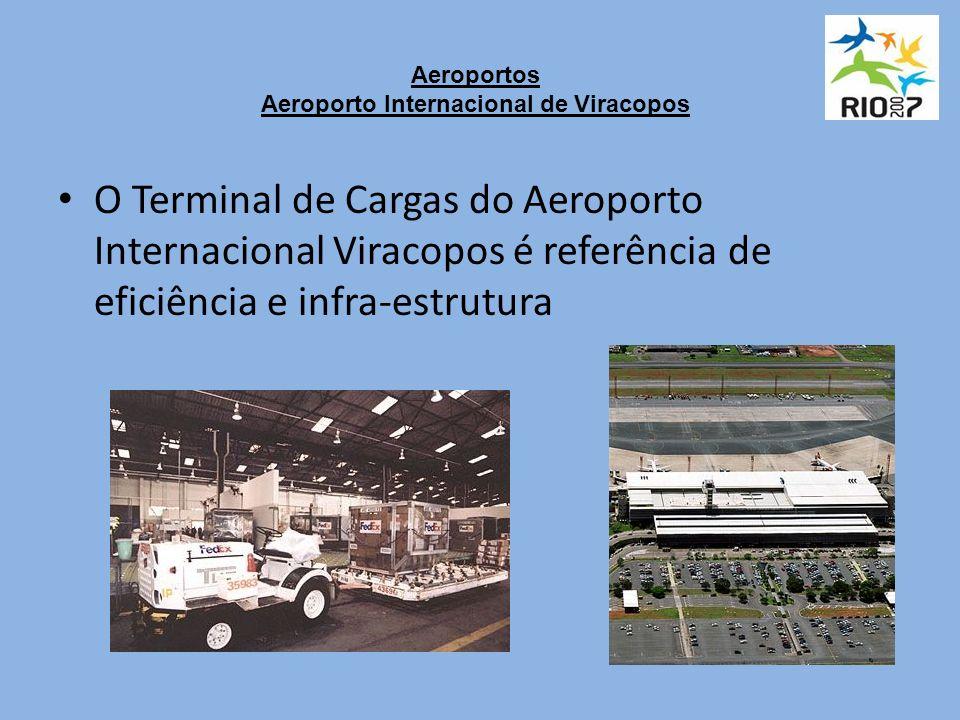 Aeroportos Aeroporto Internacional de Viracopos O Terminal de Cargas do Aeroporto Internacional Viracopos é referência de eficiência e infra-estrutura