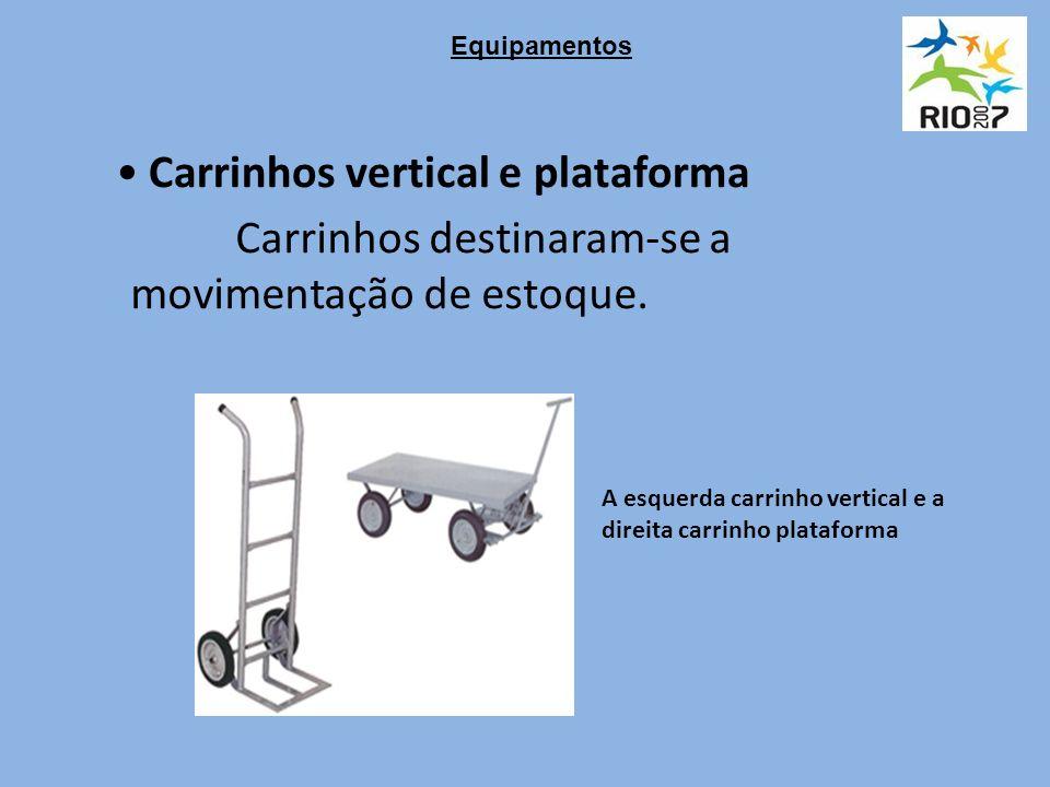 Carrinhos vertical e plataforma Carrinhos destinaram-se a movimentação de estoque.