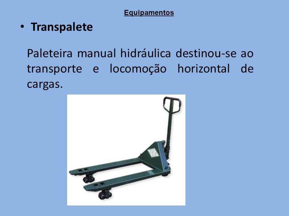 Transpalete Paleteira manual hidráulica destinou-se ao transporte e locomoção horizontal de cargas.