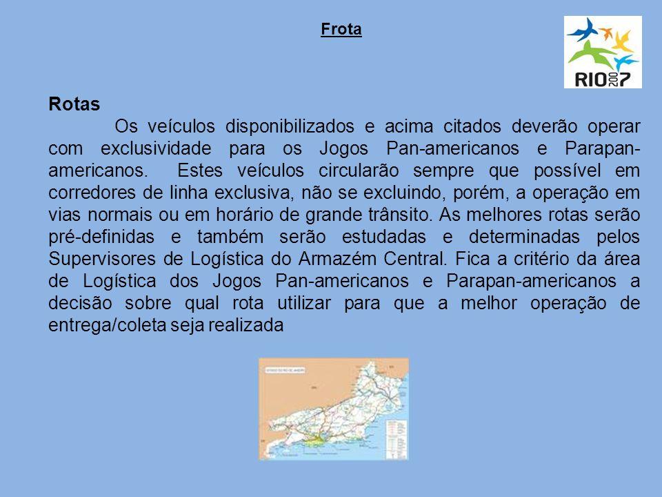 Rotas Os veículos disponibilizados e acima citados deverão operar com exclusividade para os Jogos Pan-americanos e Parapan- americanos.