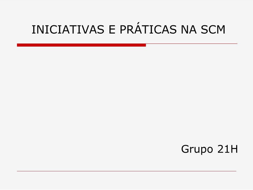 INICIATIVAS E PRÁTICAS NA SCM Grupo 21H