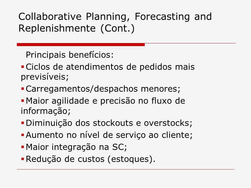 Principais benefícios: Ciclos de atendimentos de pedidos mais previsíveis; Carregamentos/despachos menores; Maior agilidade e precisão no fluxo de inf