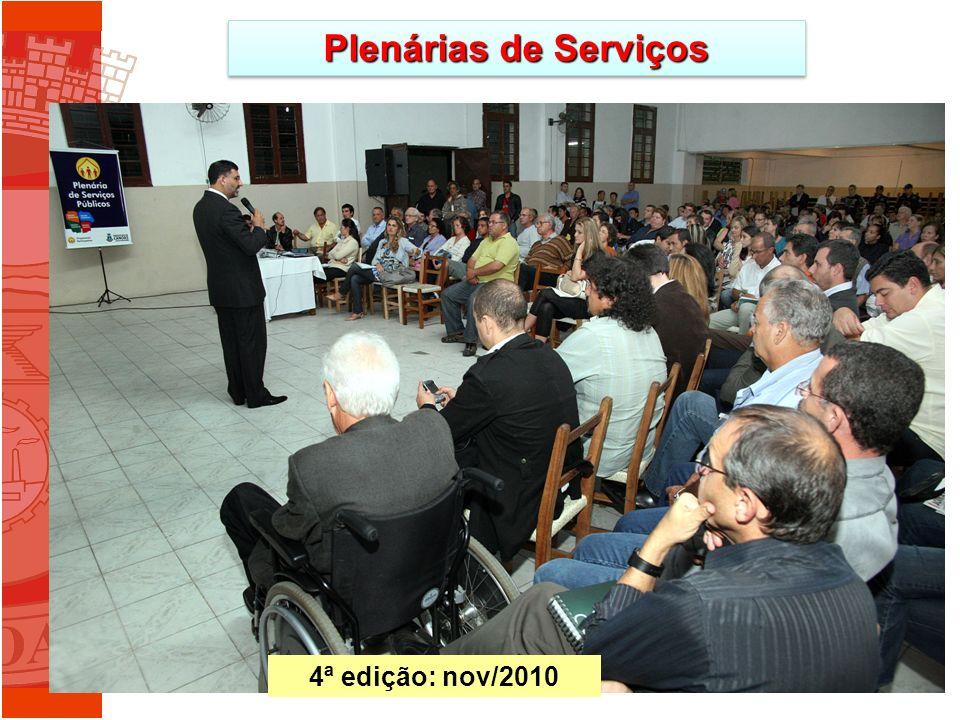 Plenárias de Serviços 4ª edição: nov/2010