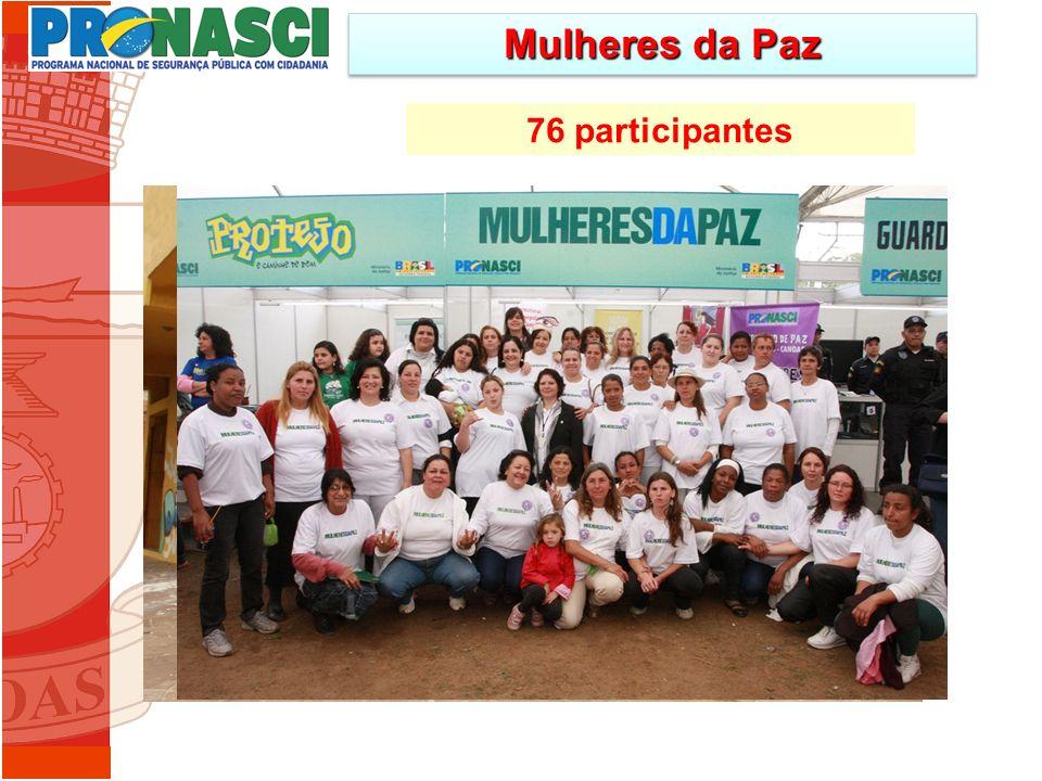76 participantes Mulheres da Paz