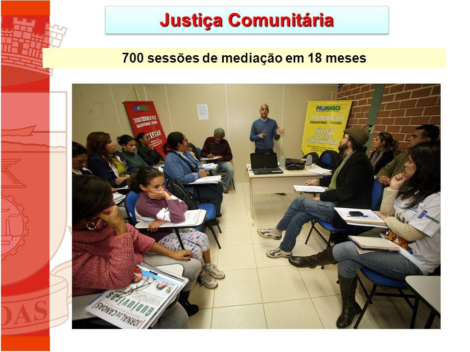 Justiça Comunitária 700 sessões de mediação em 18 meses