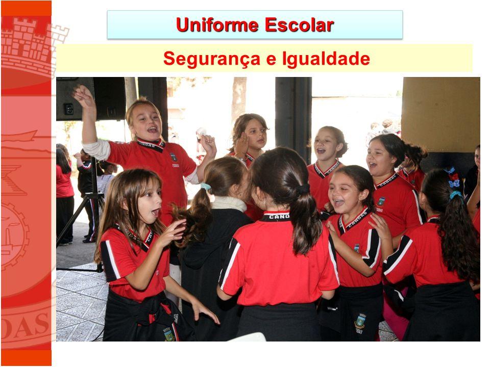 Segurança e Igualdade Uniforme Escolar