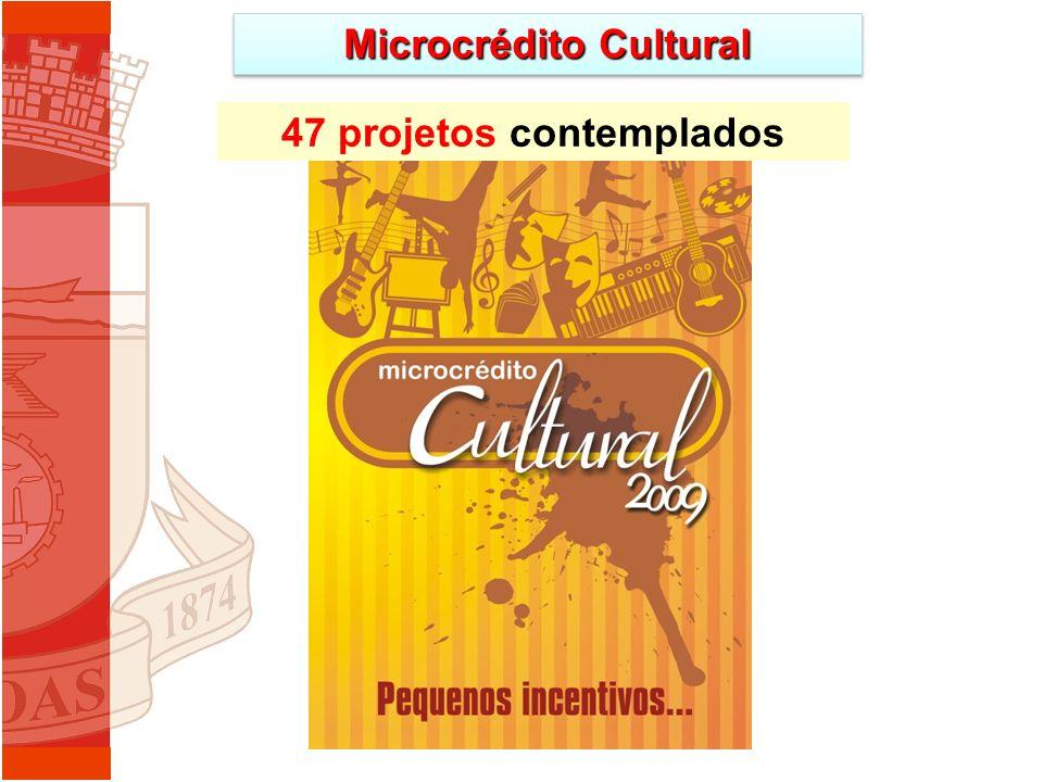 Microcrédito Cultural 47 projetos contemplados