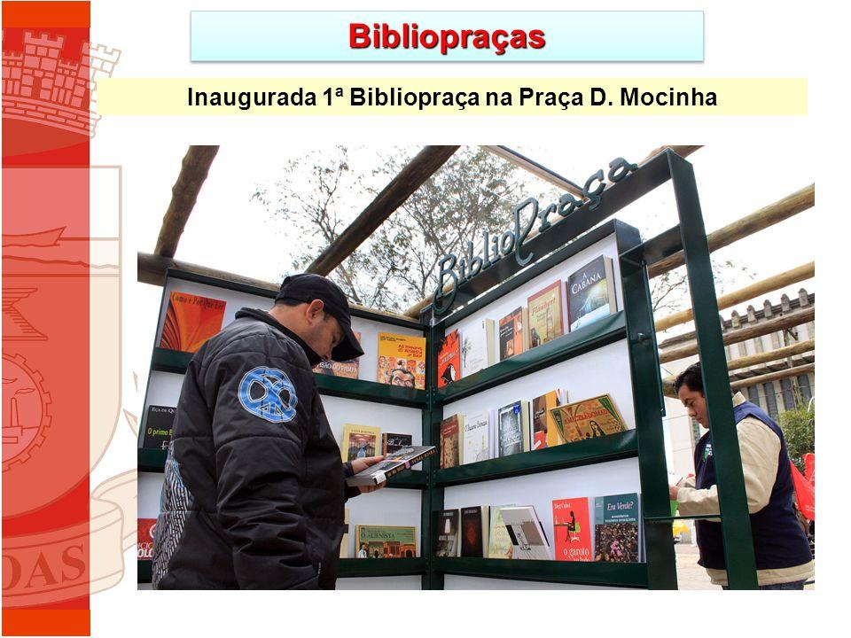 BibliopraçasBibliopraças Inaugurada 1ª Bibliopraça na Praça D. Mocinha